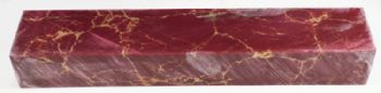 Red With Gold Matrix Tru-Stone Block 0.9